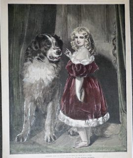 Antique Print, Princess Mary of Cambridge, 1891