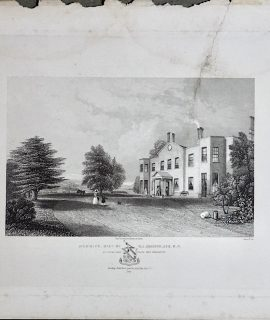 Rare Antique Engraving Print, Denbies, Seat of W.J. Denison. Esq. M.P. 1840