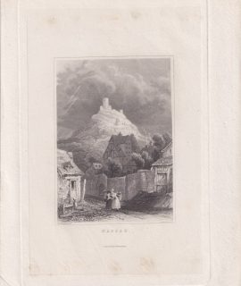 Antique Engraving Print, Nassau, 1838
