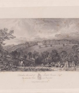 Antique Engraving Print, Polesden the Seat of Joseph Bonsor... 1845