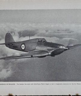Vintage Print, Defence of England, 1938