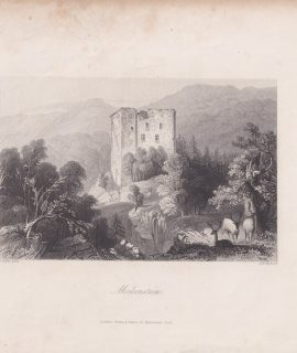 Antique Engraving Print, Merkenstein, 1845
