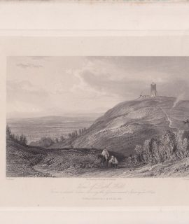 Antique Engraving Print, View of Leith Hill, 1844