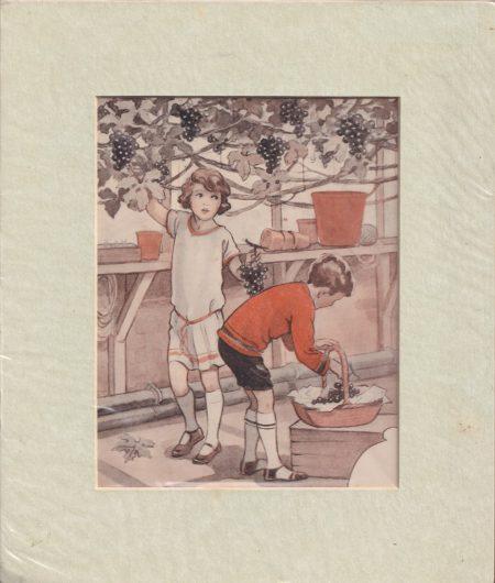 Antique Print, The Harvest, 1950