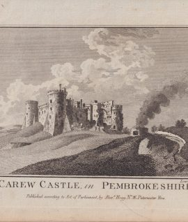 Antique Engraving Print, Carew Castle in Pembrokeshire, 1776