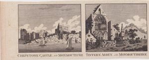 Antique Engraving Print, Chepstowe Castle; Tintern Abbey, Monmouthshire, 1776