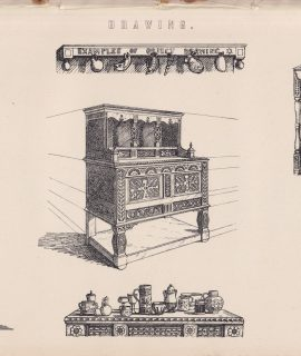Antique Print, Drawing, 1870