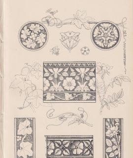 Antique Print, Drawing, decorative or constructive, 1870