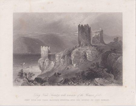 Antique Engraving Print, Drey Kule, Swinitza, 1845
