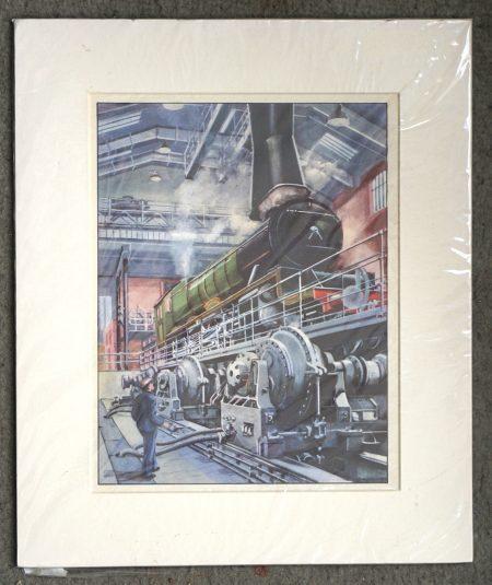 Vintage Print, The Train, 1950