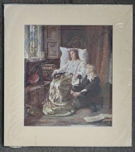Vintage Print, Interior scene, 1930