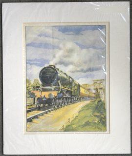 Antique Print, The Train, 1950