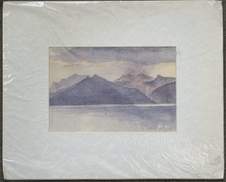 Vintage Original Watercolour, landscape, 1980 ca.
