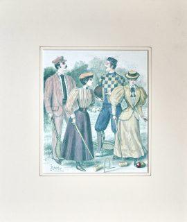 Antique Print, Croquet, 1894