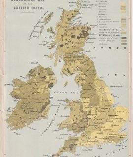 Geological Map of the British Isles, 1870 ca.