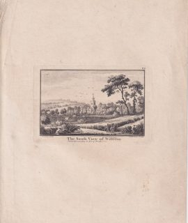 Antique Engraving Print, The South View of Willfdon, 1770