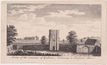 Antique Engraving Print, A view of the remains of Godstow Nunnery in Oxfordshire, 1776