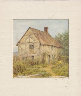 Antique Print, The Cottage, 1890 ca.