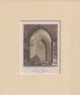 Antique Engraving Print, Cromer Church, Norfolk, 1820 ca.