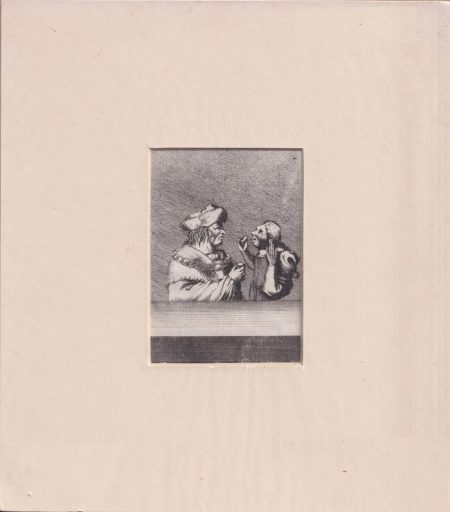Antique Engraving Print, The Jester, 1790