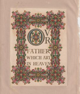 Antique print, OVR Father which art in heaven, 1867