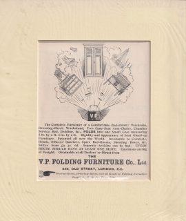 Antique Print, The V.P. Folding Furniture Co., Ltd. 330 Old Street, London, 1895