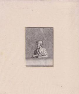 Rare Antique Engraving Print, Donkey ears, 1790
