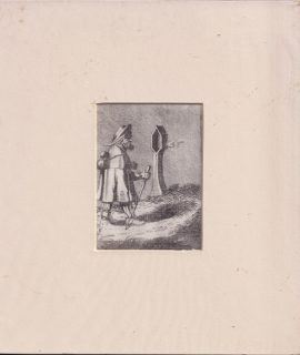 Antique Engraving Print, The wayfarer, 1790