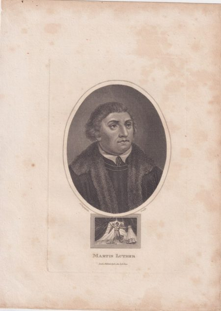 Antique Engraving Print, Martin Luther, 1814