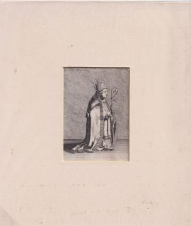 Antique Engraving Print, The Pope, 1790