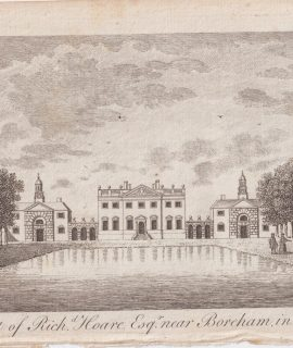 Antique Engraving Print, Boreham House, The Seat of Richard Hoare, 1776