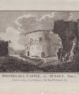 Antique Engraving Print, Winchelsea Castle, in Sussex, 1776