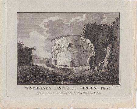 Antique Engraving Print, Winchelsea Castle, in Sussex, 1776