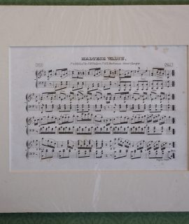 Antique Print, Maltese Waltz, 1820