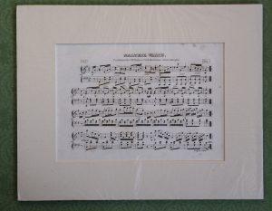 Antique Print, Maltese Waltz, 1820