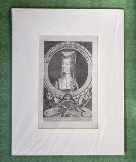 Antique Engraving Print, Isabella Contess of Sefton, 1748