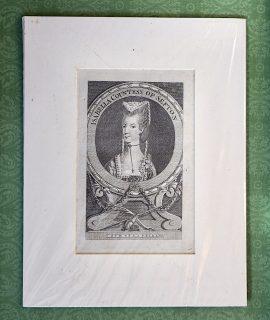 Antique Engraving Print, Isabella Contess of Sefton, 1748