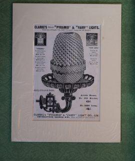 Vintage Print, Clarke's Pyramid & Fairy Lights, 1890