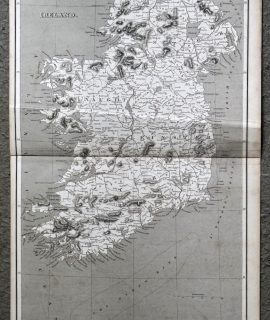 Antique Map, Ireland, 1808