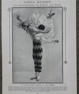 Vintage Print, Polo; Lydia Kyasht, 1913