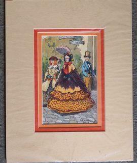 Vintage Print, Une tante, une niece, un dandy, George P. Delaet, 1919