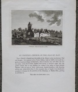 Antique Engraving Print, ST. Trinion's Church in the Isle Man, 1785