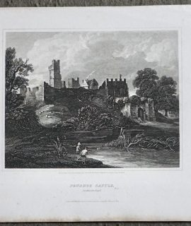 Antique Engraving Print, Prudhoe Castle, Northumberland, 1815