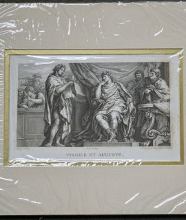 Rare Antique Engraving Print, Virgile et Auguste, 1750 ca.