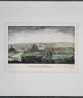 Antique Engraving Print, The East View of Winchester, 1764