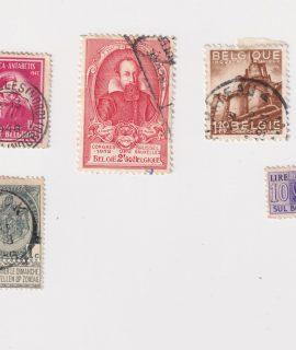 Lot of 5 Vintage Postage Stamps