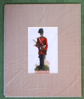 Antique Print, Fusilier, 1900