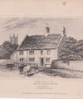 Antique Engraving Print, Birth Place of Rev. d Ja.s Hervey, 1840