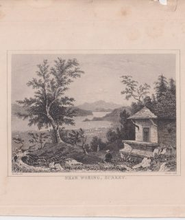 Antique Engraving Print, Near Woking, Surrey, 1840