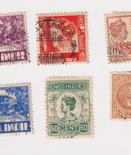 Lot of 6 Postage Stamps, Ned-Indie
